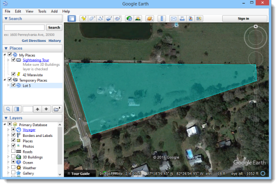 Export to Google Earth KML file