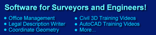 Land Surveying Software and Training for AutoCAD Civil 3D